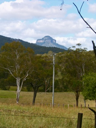 Mt Lindesay from distance - this shows how it dominates the landscape around it.