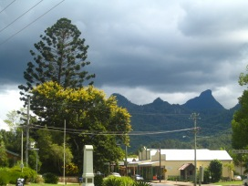 Wollumbin as seen from the village of Uki