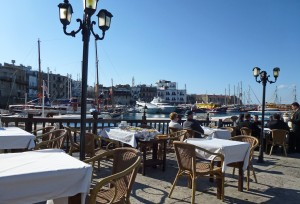 Cafe culture on Kyrenia Harbour