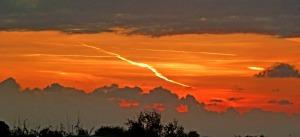 Sunset with lighting shape