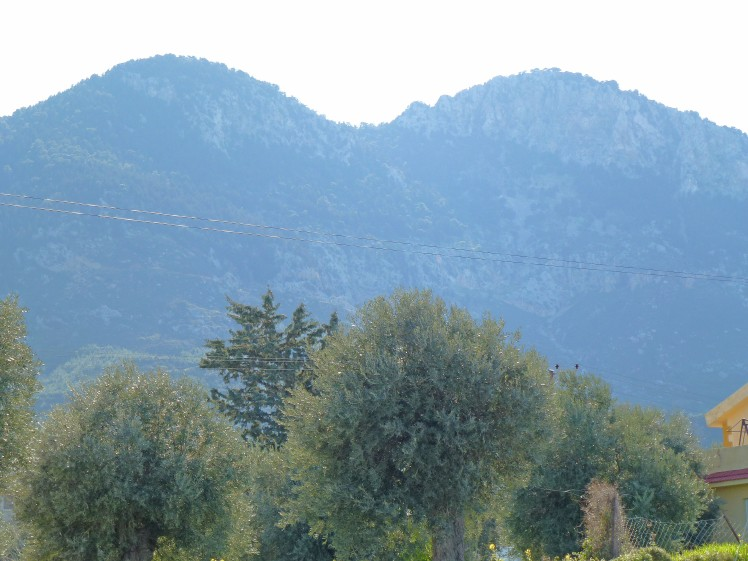 Mountains behind our apartment in Alsancak, west of Kyrenia