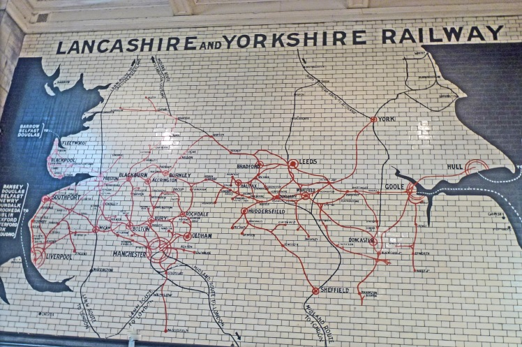Map, railway network,  Victoria Station, Manchester