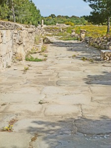 Roman collonaded street, Salamis