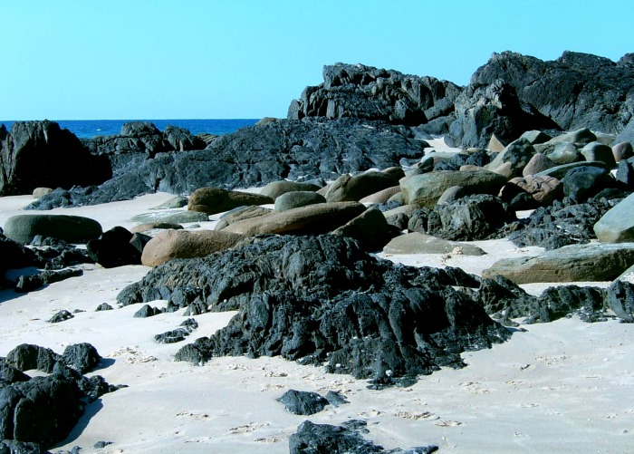 Rocks at Scotts head beach