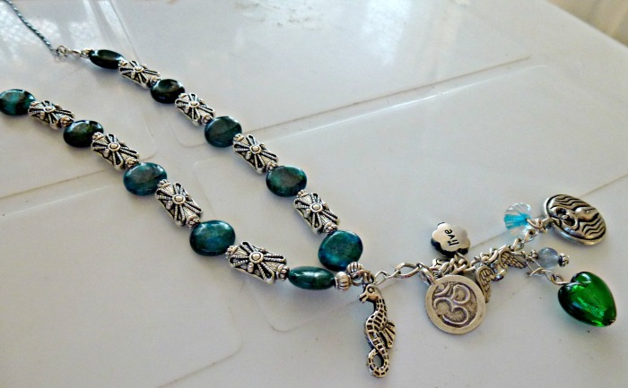 Chrysocolla necklace 1