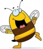 Happy-cartoon-bee-dancing-and-smiling