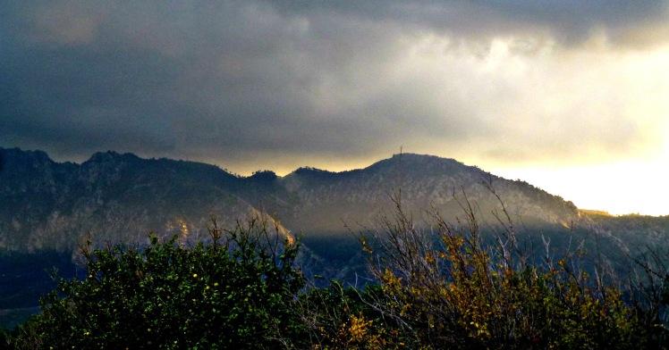 Sun over Besparmak Mtns 1