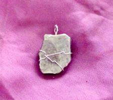 Lepidolite pendant