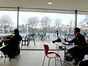 View from RFS Coffee shop towards Thames
