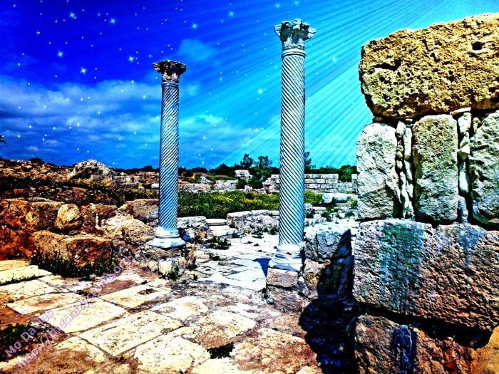 Columns close to Fish Market, 1 Salamis_Fotor