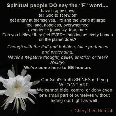 Spiritual people say - f - word