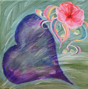 Flowering heart, transparent