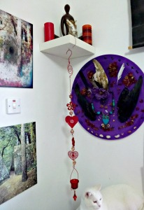 Heart hanger with my Purple Medicine Shield