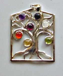 Tree of Life with Carnelian, Garnet, Moonstone, Amethyst, Citrine, Sodalite, Peridot