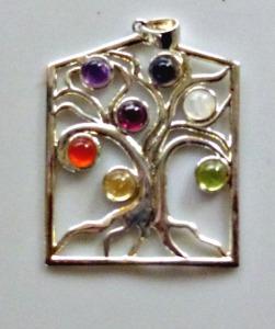 Tree of Life with Carnelian, Garnet, Moonstone, Amethyst, Citrine, Sodalite, Peridot