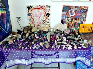 Crystals, indoor table